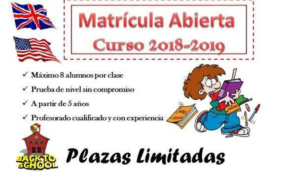 Matrícula Abierta Curso 2018-19