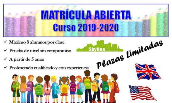 Matrícula Abierta Curso 2019-20